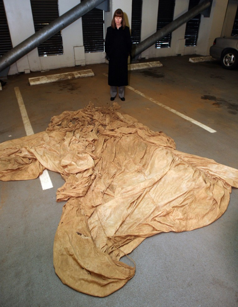 Image: FBI agent Robbie Burroughs and parachute