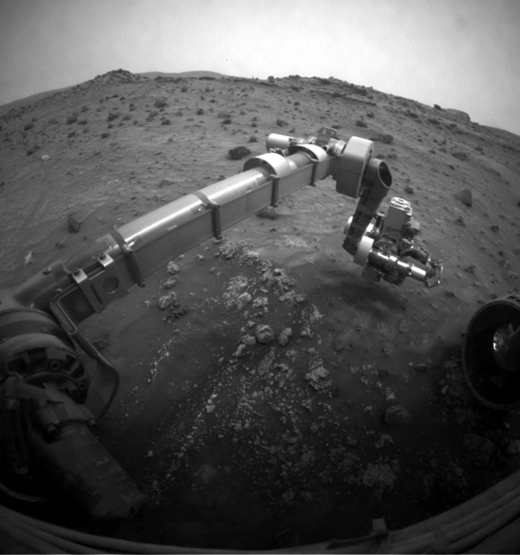 Image: A robotic arm from NASA's Mars Exploration rover Spirit
