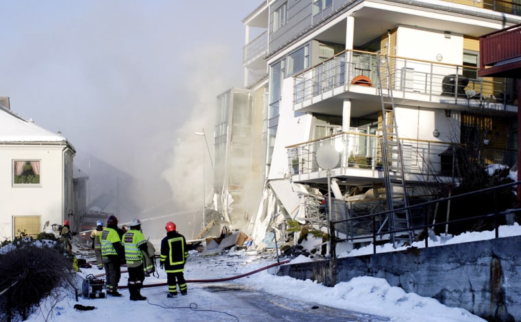 Image: Collapsed building in Aalesund, Norway