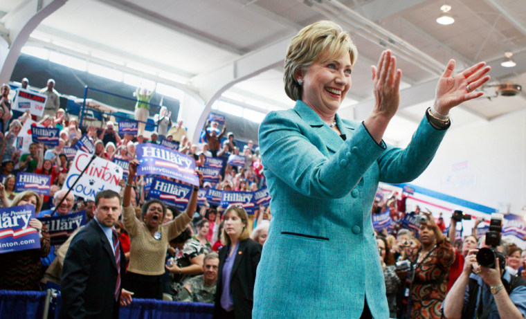 Image: Sen. Hillary Rodham Clinton campaigns in Fayetteville, NC.