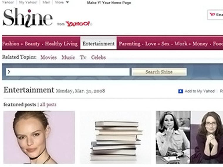 Image: Yahoo shine.