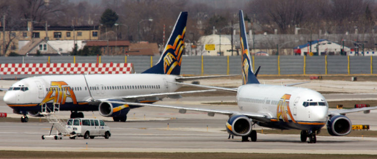 Image: ATA planes sit on a tarmac in Chicago