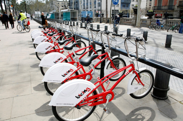 Bicing, Barcelona's bike sharing program, was launched in 2007. The system has expanded to 400 stations with 6,000 bicycles.
