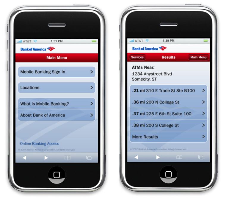 Image: Bank of America Mobile Banking