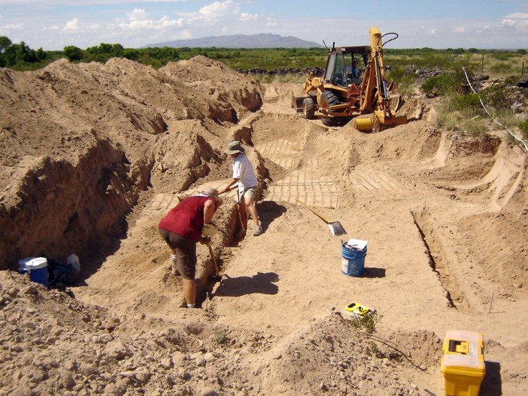 Image: Excavation of the Fort Craig cemetery