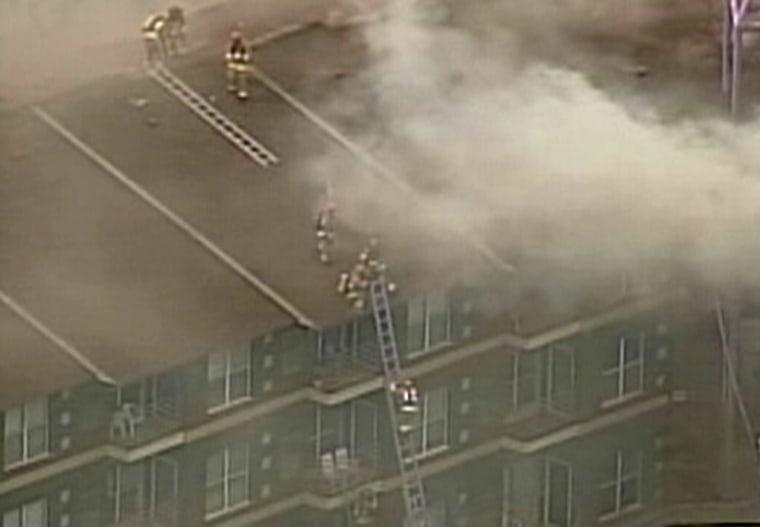 Image: Michigan fire