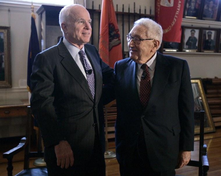 Image: John McCain and Henry Kissinger