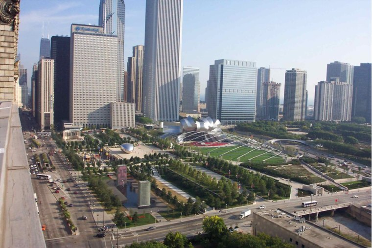 Chicago's $480 million Millennium Park, completed in 2004, is technically an intensive green roof, and one of the world's largest at 24.5 acres.