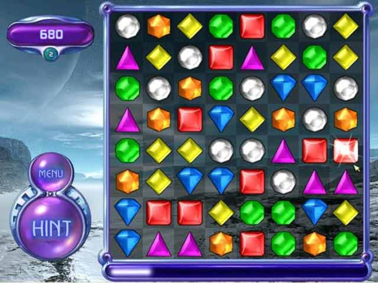 """Image: video game """"Bejeweled"""""""