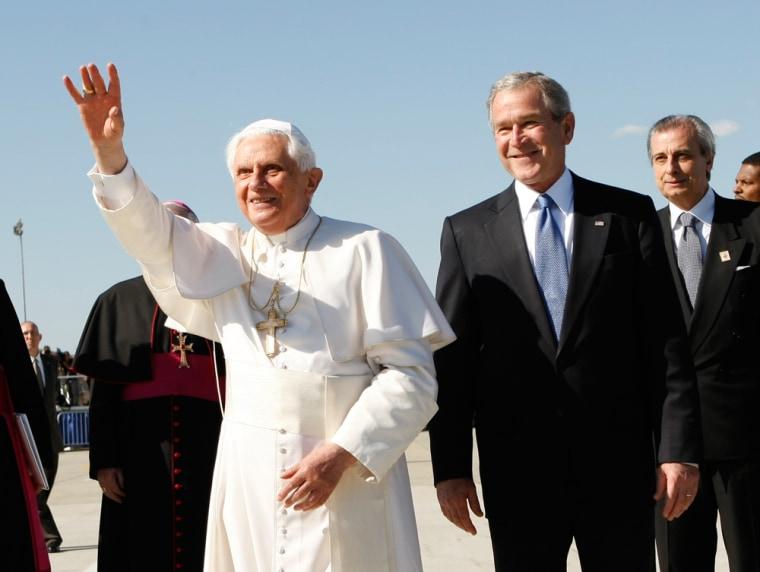 Image: George W. Bush, Pope Benedict XVI