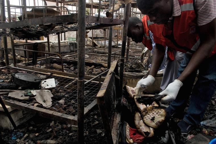 Image: School fire in Budo, Uganda