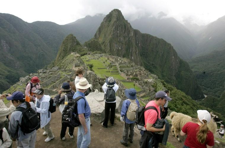 Image:  Machu Picchu is Peru's top tourist destination.