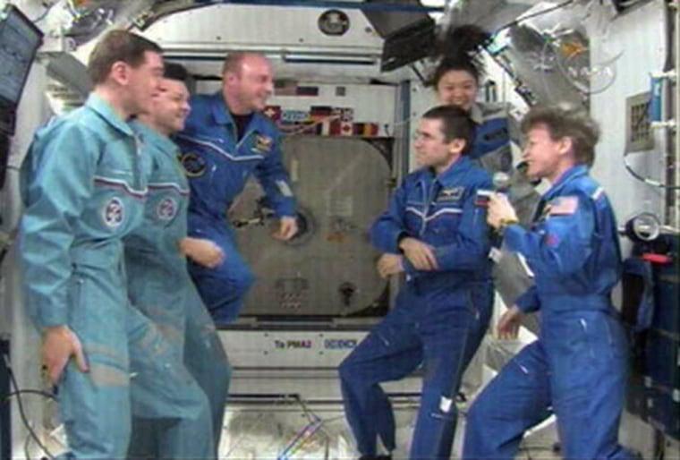 Image: International space station crew