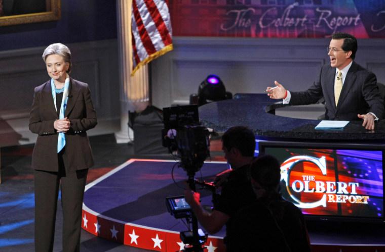 Image: Hillary Clinton, Colbert Report