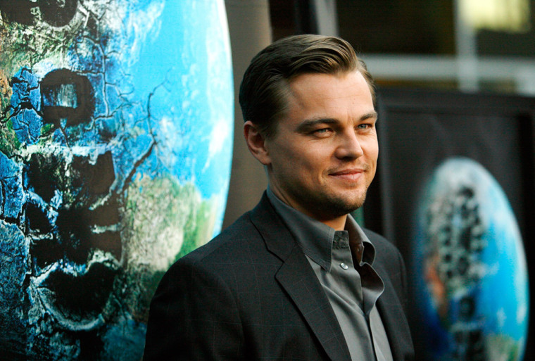 Image: Leonardo Di Caprio at the premeire for his movie about the environment.
