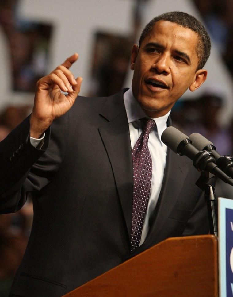 Image: Barack Obama Holds Pennsylvania Primary Night Event In Indiana