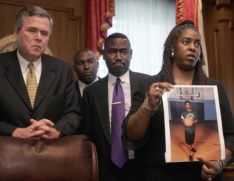 Image: Gina Jones, Jeb Bush, Daryl Parks, Ben Crump