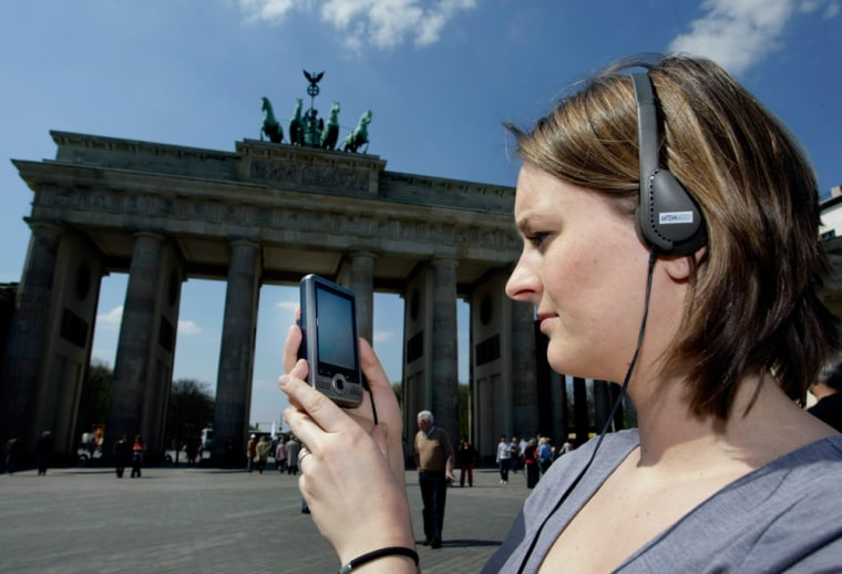 Image: audio wall-guide for tourists