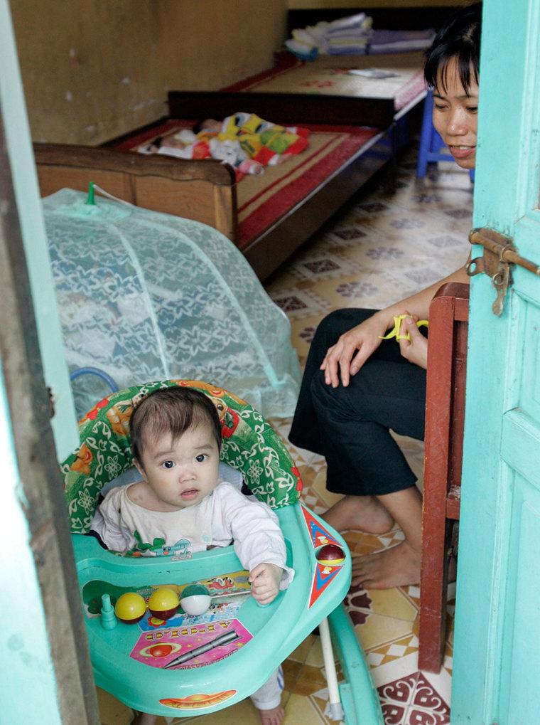 Image: baby girl at Vietnamese orphanage