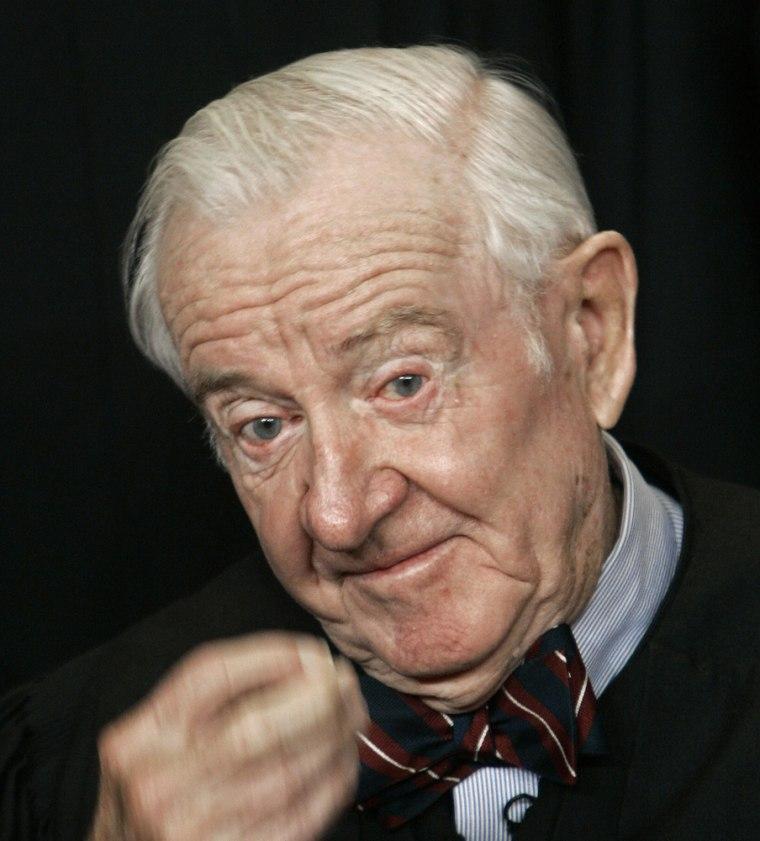 Image: US Supreme Court Justice John Paul Stevens