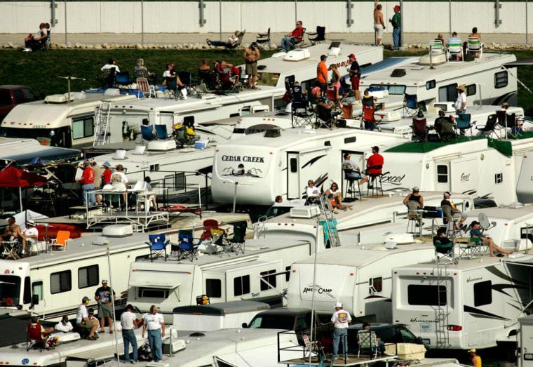 Image: NASCAR fans in RVs
