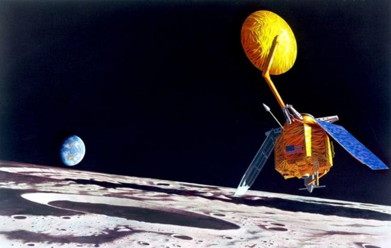 Image: Satellites in lunar orbit
