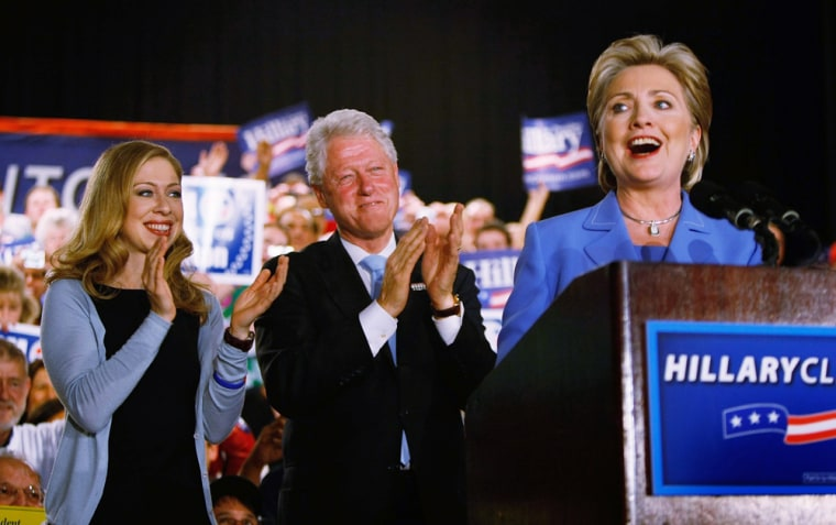 Image: Hillary Clinton Holds Primary Night Rally In Indianapolis