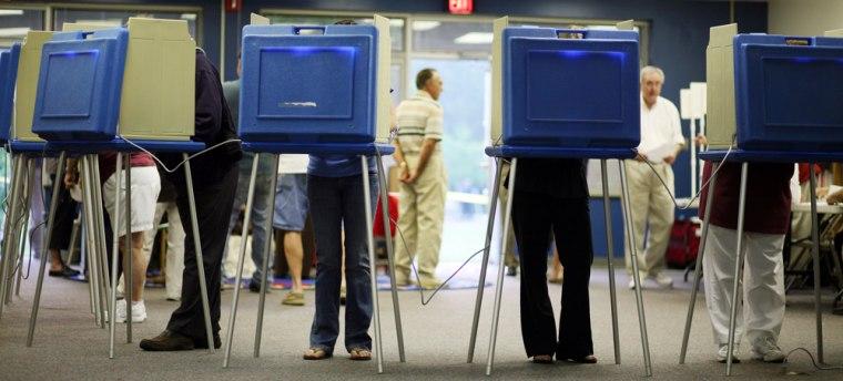 Image: North Carolina Voters Go To The Polls