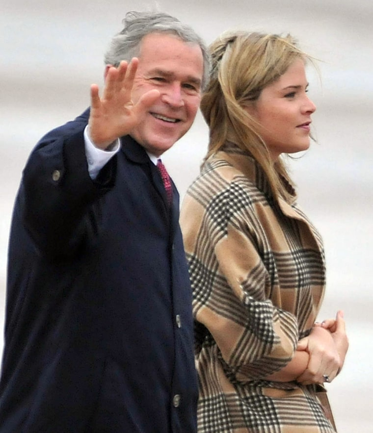 Image: George W. Bush, Jenna Bush