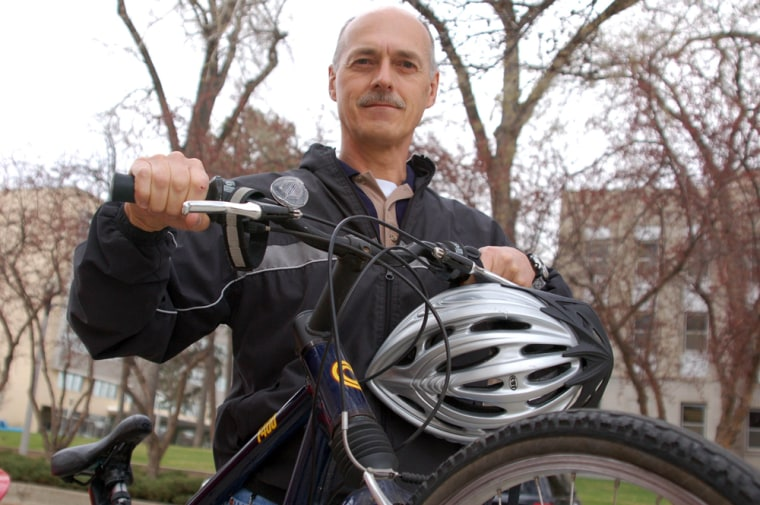 Engineer Dale Heinert said he's been seeing more fellow bicycle commuters on his daily trek to work. He started cycling to work when the price of gas began skyrocketing — in 1973.