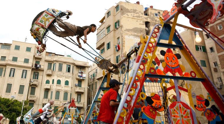 Image: The spring feast of Sham el Nesim in Alexandria, Egypt