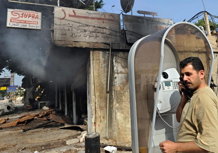 Image: Aftermath of violence around Beirut