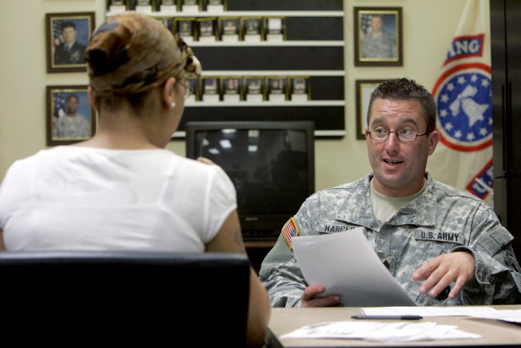 Image: Army recruiter