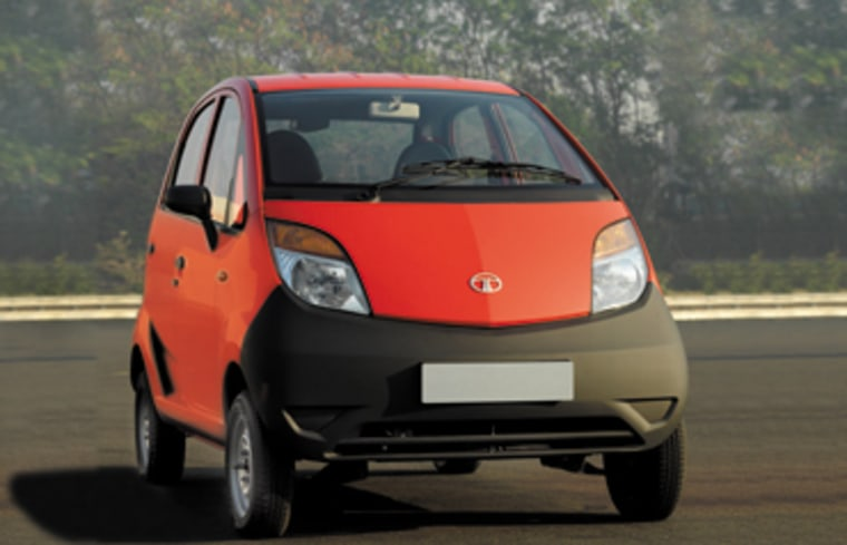 "Image: Tata Group's ""Nano"" car"