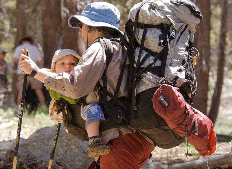 Image: Backpacking with a small child