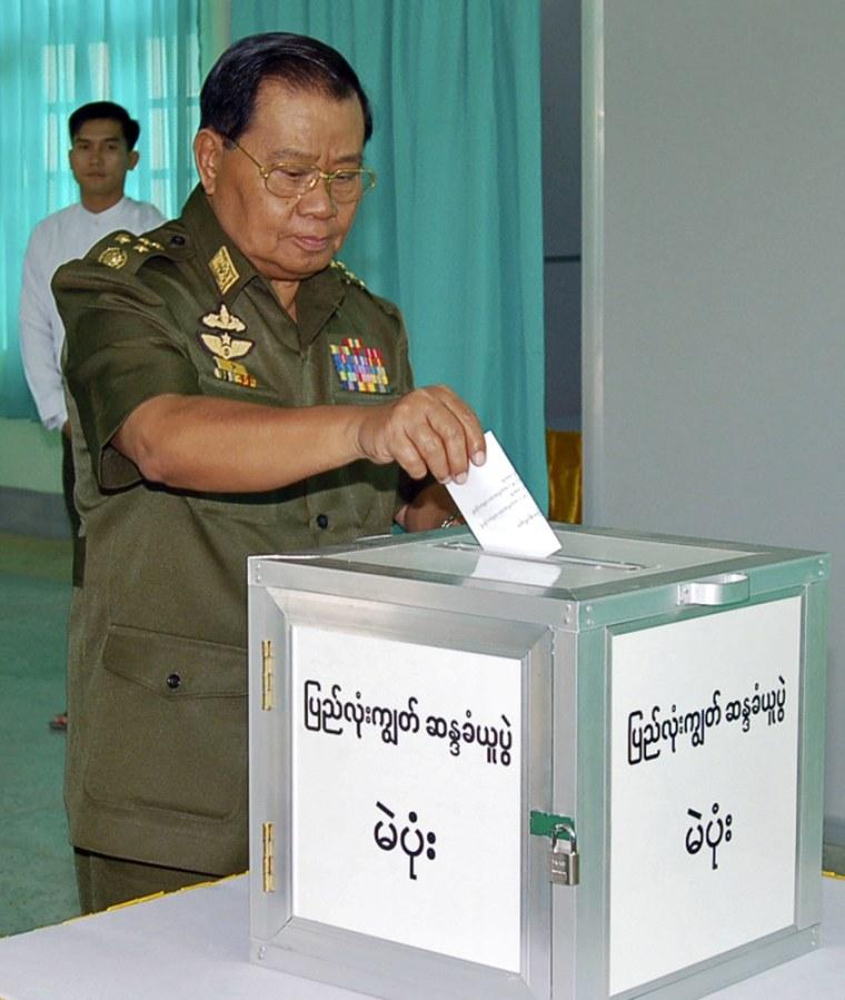 Image: Senior General Than Shwe on Myanmar