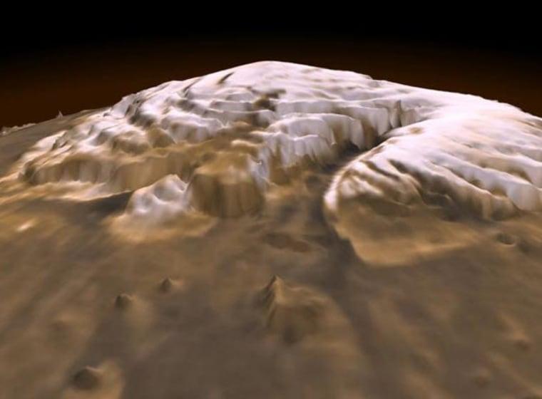 Image: North polar region of Mars