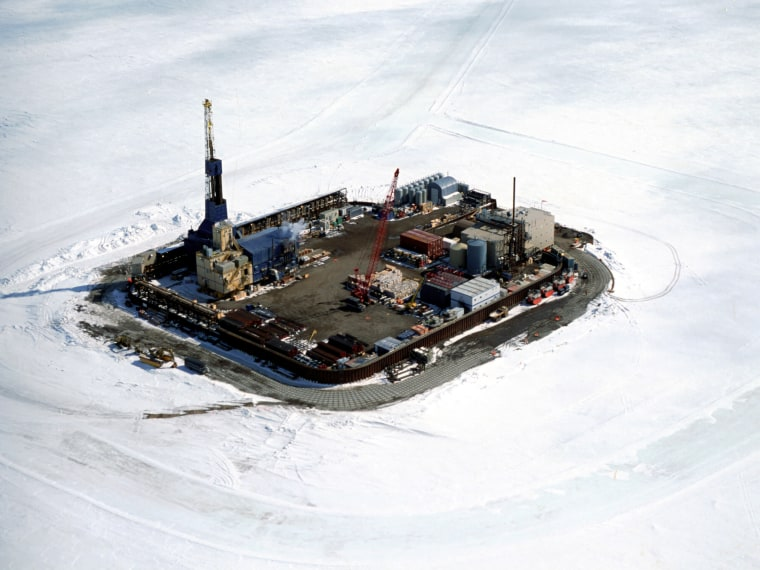 BP's Northstar oil facility, a manmade island just off Alaska's coast in the Beaufort Sea, was the first built off the state's shore.Oil companies are interested in venturing out even farther given high oil prices. Environmentalists worry that could endanger polar bears as well as migrating whales.