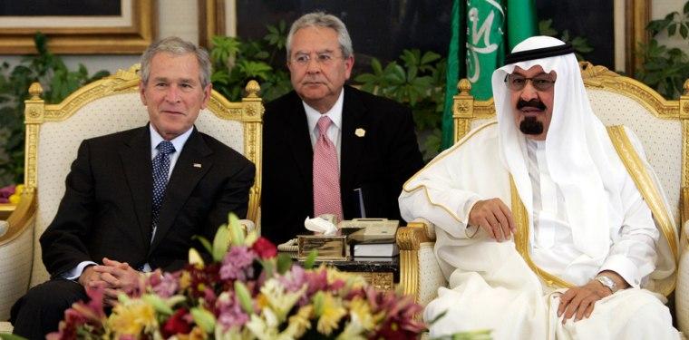 Image: George W. Bush, King Abdallah