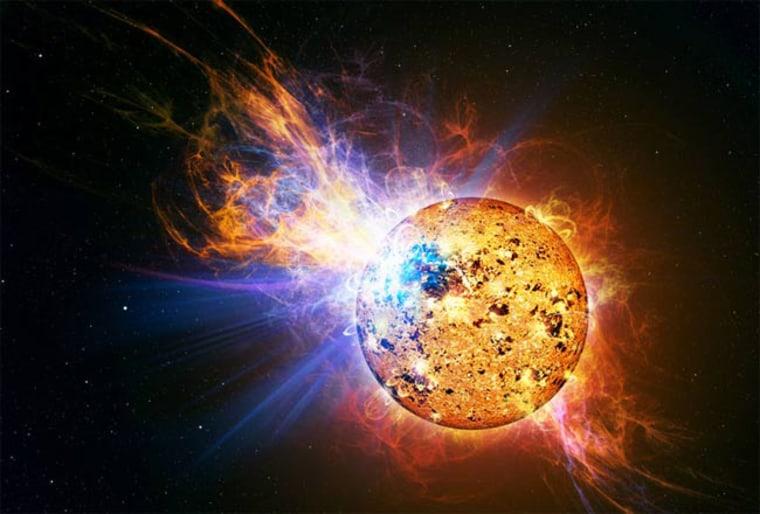 Image: Artist interpretation of red dwarf star