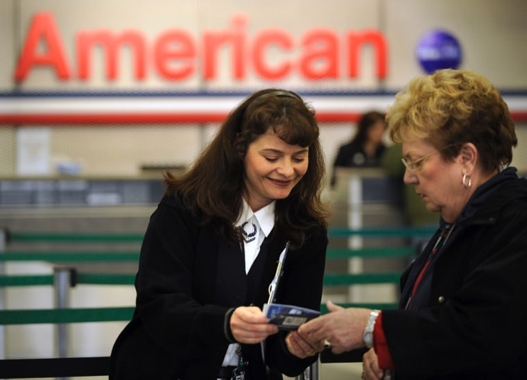 Image: American Airlines customer service employee Michelle Flentge