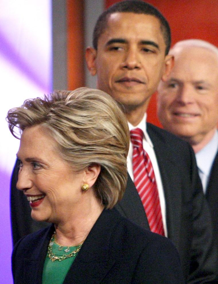 Image: Clinton, Obama, McCain