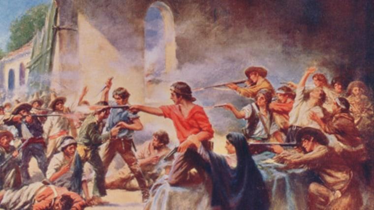 Image: Alamo battle