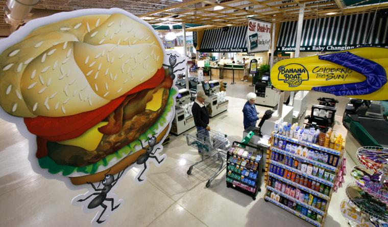 Image: supermarket checkout