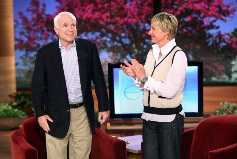Image: Sen.John McCain and Ellen DeGeneres