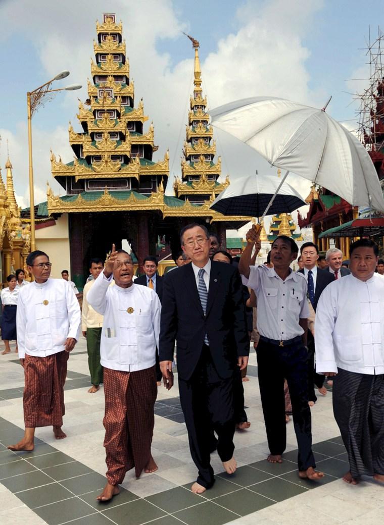 Image: UN Secretary General Ban Ki-moon in Myanmar