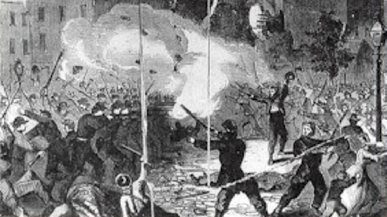 Image: Drawing of a battle