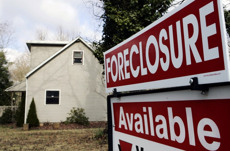 Image: a foreclosed house