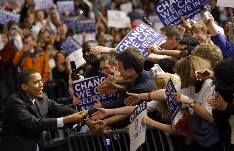 Image: Barack Obama campaigning in Nebraska