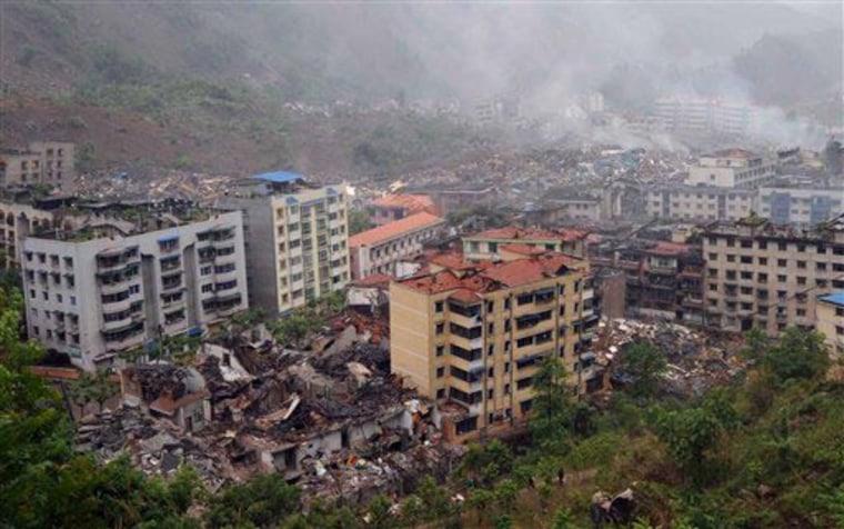 Image: China earthquake